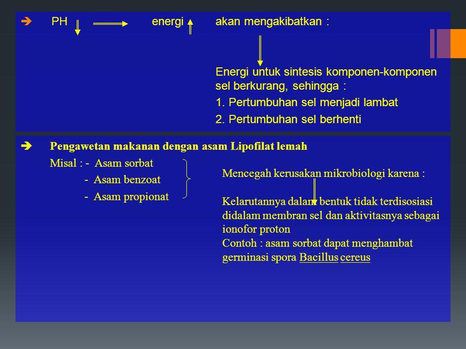 PH energi akan mengakibatkan :