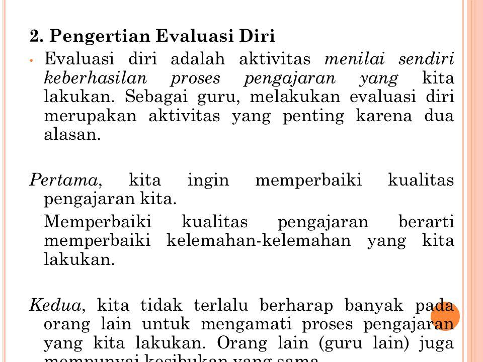 2. Pengertian Evaluasi Diri