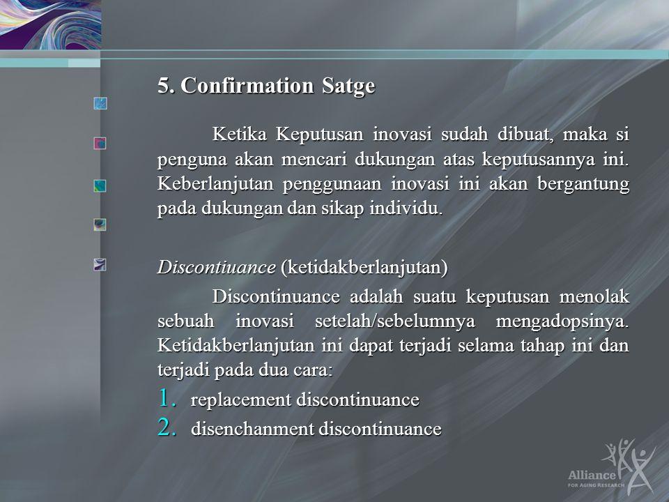 5. Confirmation Satge