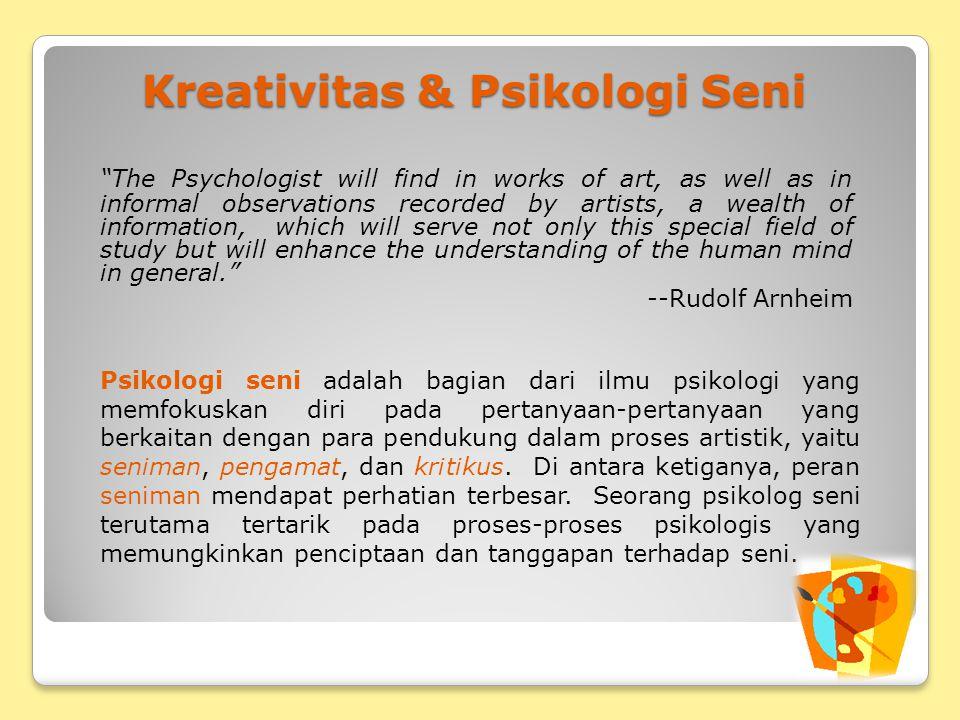Kreativitas & Psikologi Seni