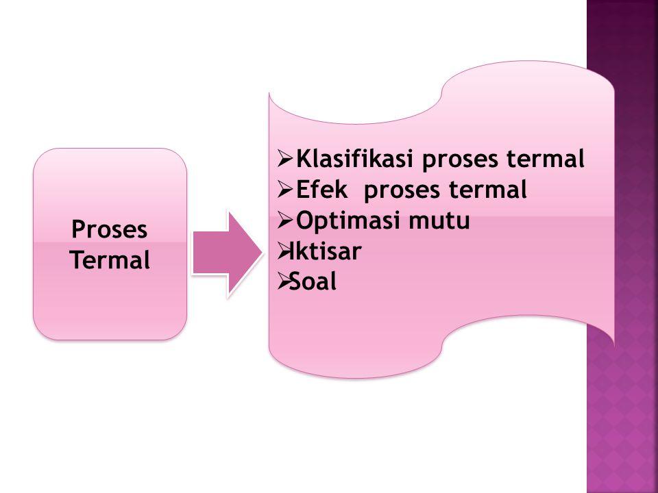 Klasifikasi proses termal