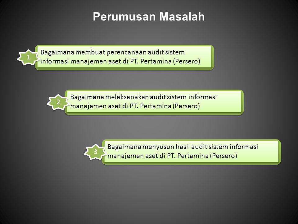 Perumusan Masalah Bagaimana membuat perencanaan audit sistem informasi manajemen aset di PT. Pertamina (Persero)