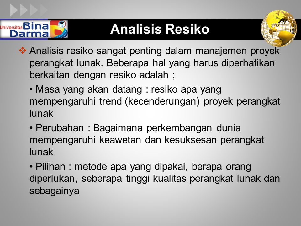 Analisis Resiko