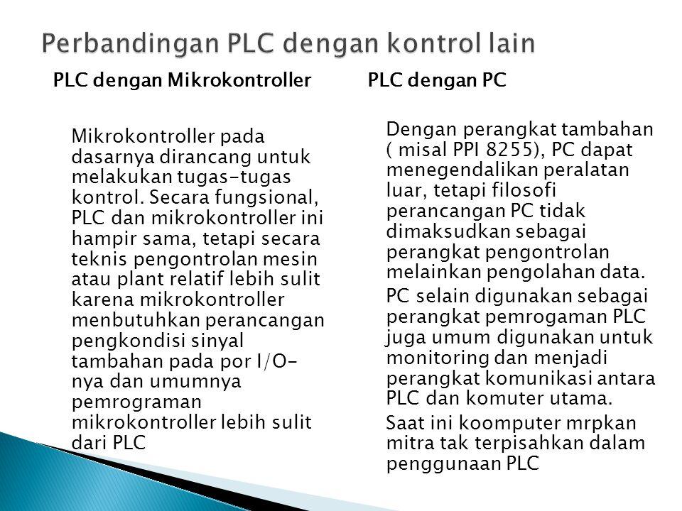 Perbandingan PLC dengan kontrol lain