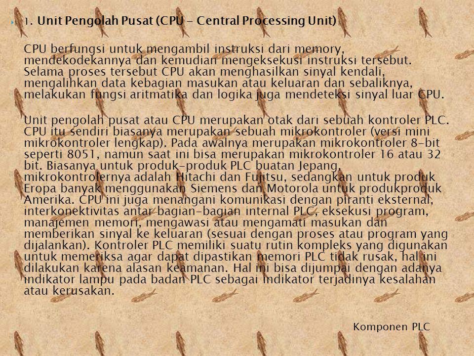 1. Unit Pengolah Pusat (CPU - Central Processing Unit)