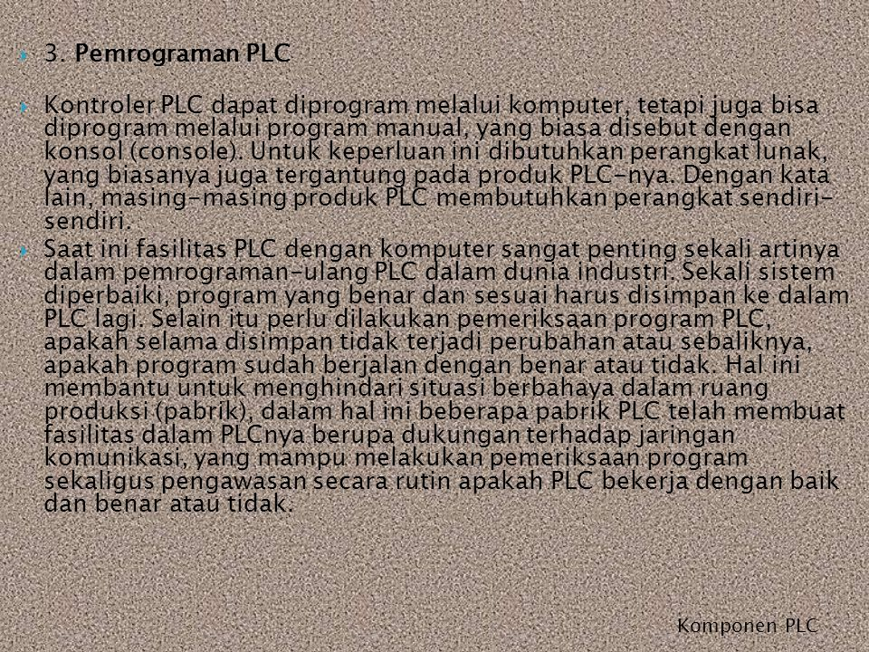 3. Pemrograman PLC