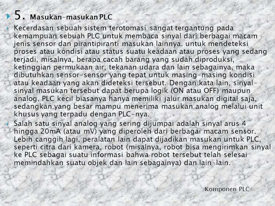 5. Masukan-masukan PLC