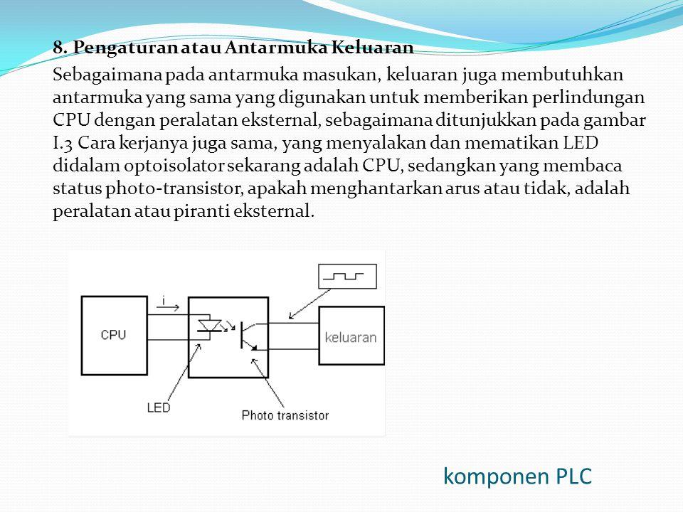 komponen PLC 8. Pengaturan atau Antarmuka Keluaran
