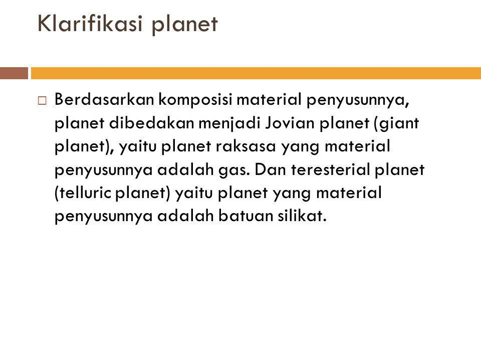 Klarifikasi planet