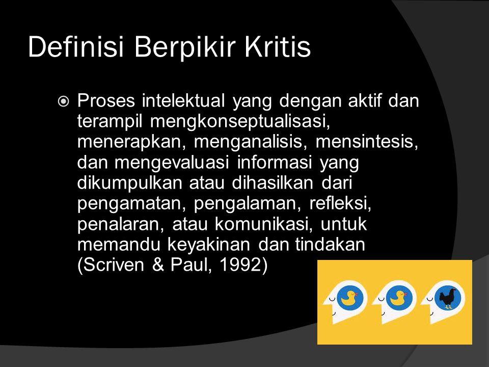 Definisi Berpikir Kritis