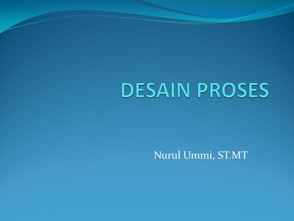 DESAIN PROSES Nurul Ummi, ST.MT
