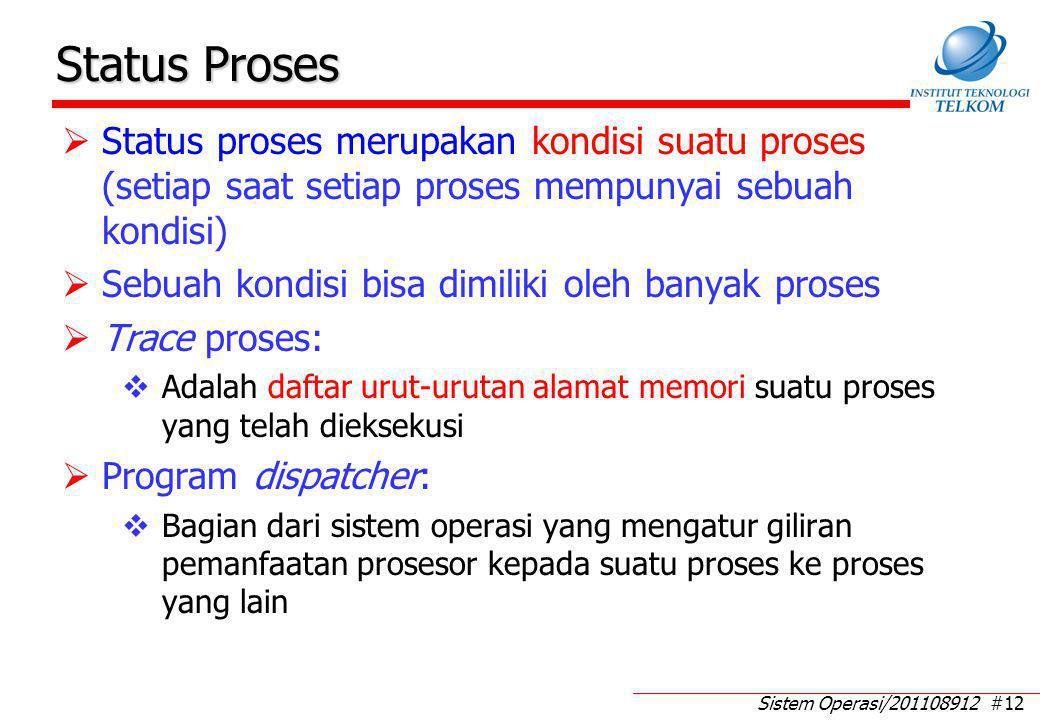 Contoh Trace Proses Sedang mengakses I/O  wait