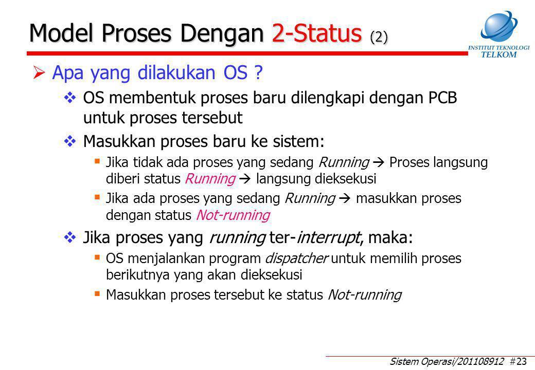 Model Antrian Pada Proses Dengan 2-Status