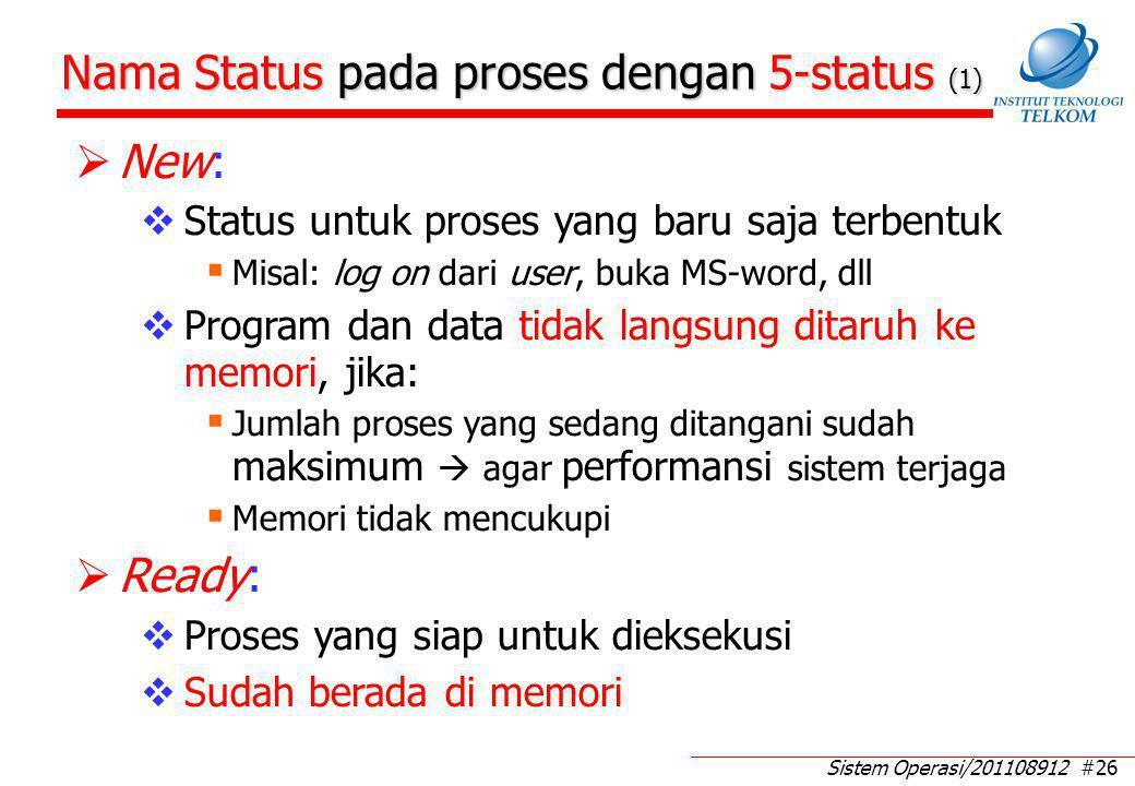 Nama Status pada proses dengan 5-status (2)