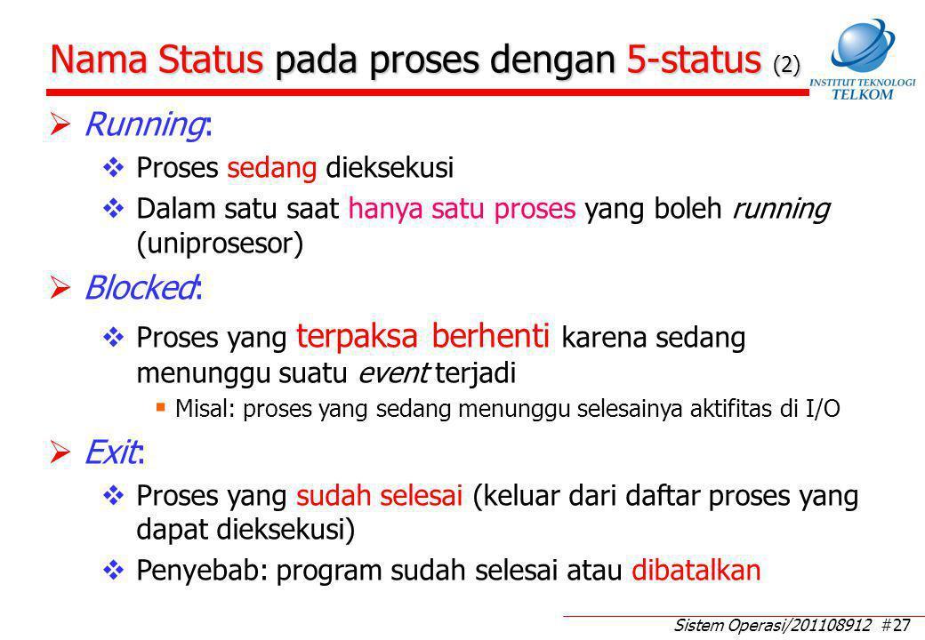 Model Proses Dengan 5-Status