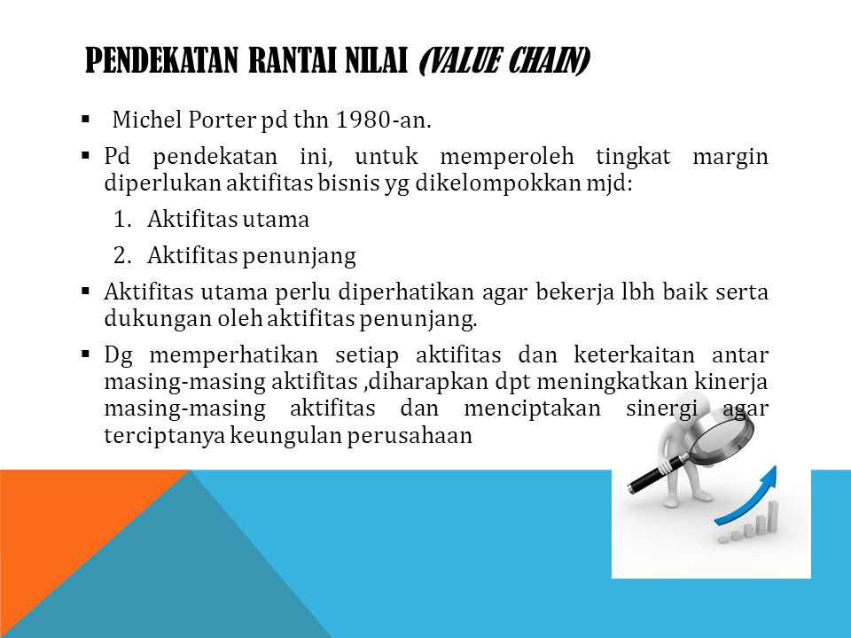Pendekatan rantai nilai (value chain)