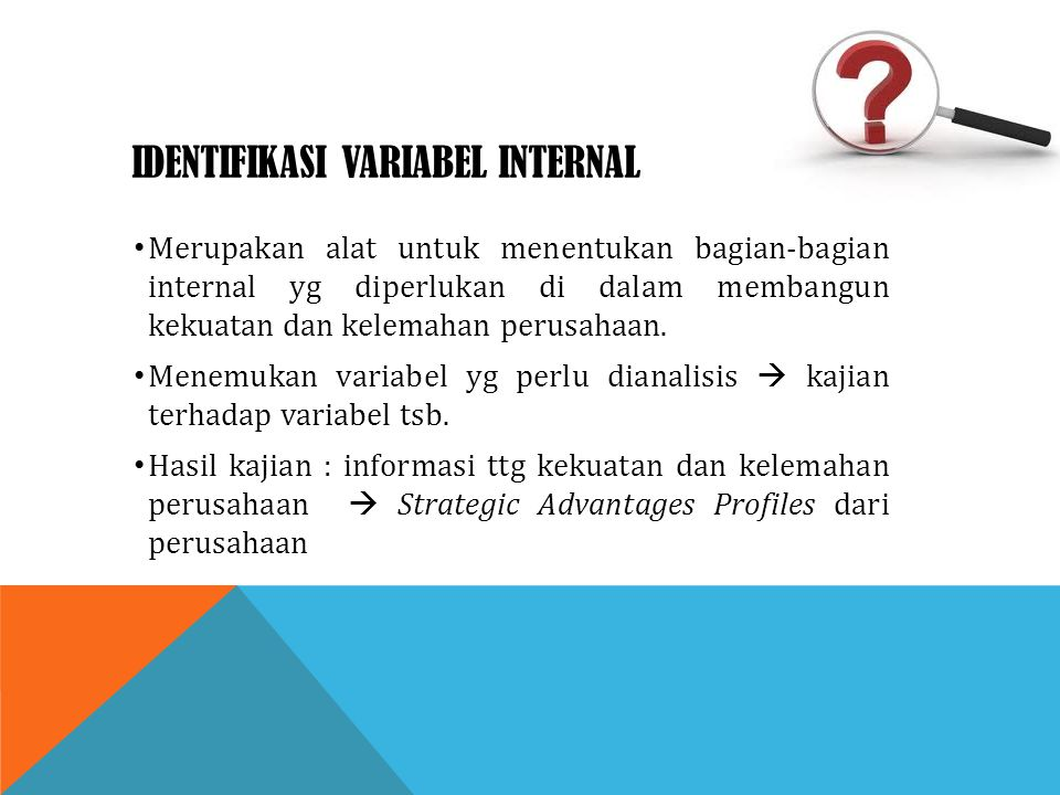 Identifikasi variabel internal