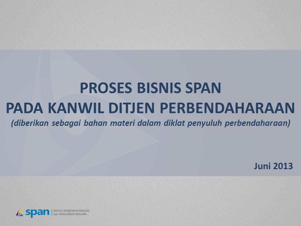PROSES BISNIS SPAN PADA KANWIL DITJEN PERBENDAHARAAN (diberikan sebagai bahan materi dalam diklat penyuluh perbendaharaan)