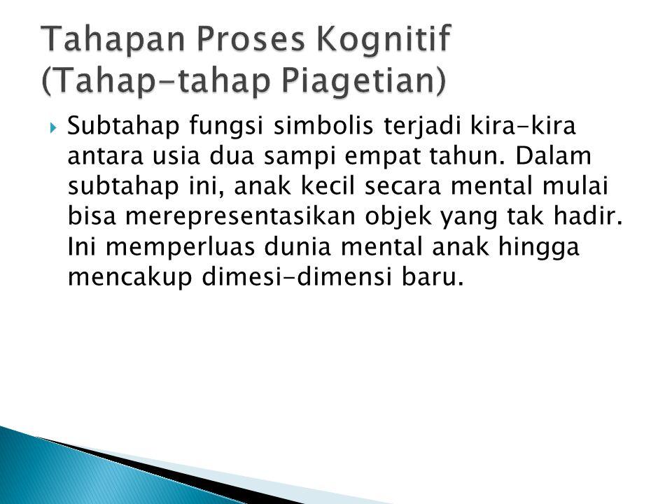 Tahapan Proses Kognitif (Tahap-tahap Piagetian)