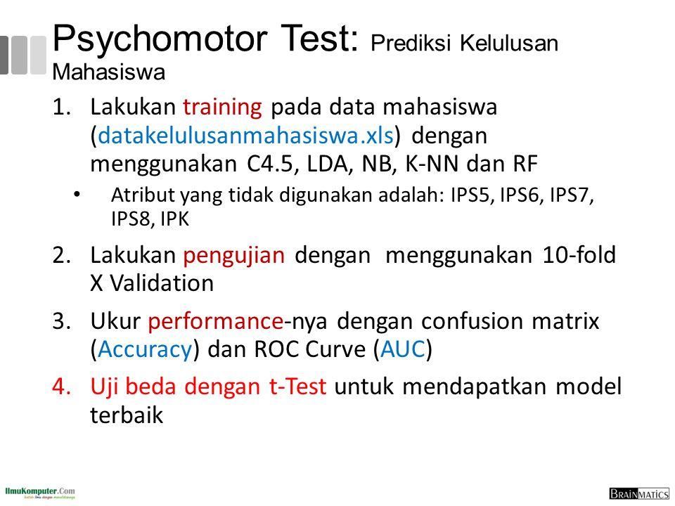 Psychomotor Test: Prediksi Kelulusan Mahasiswa