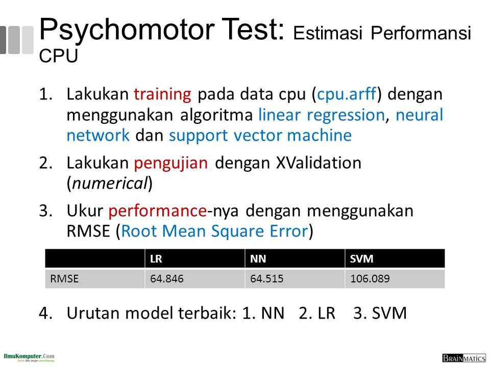 Psychomotor Test: Estimasi Performansi CPU