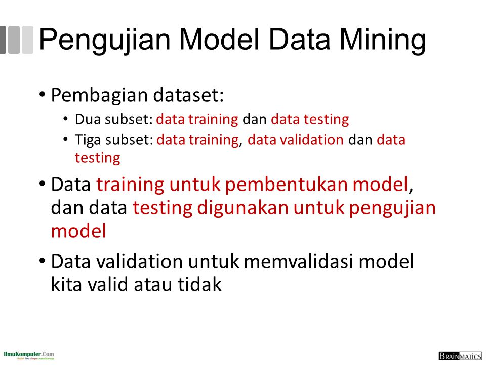 Pengujian Model Data Mining