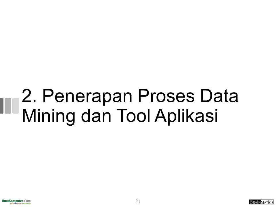 2. Penerapan Proses Data Mining dan Tool Aplikasi