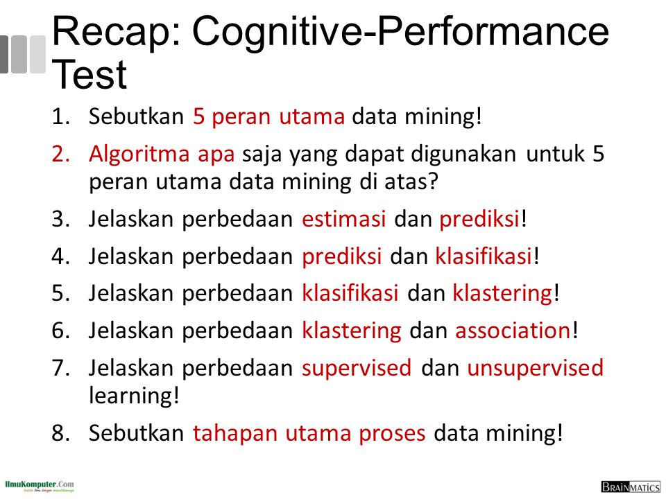 Recap: Cognitive-Performance Test