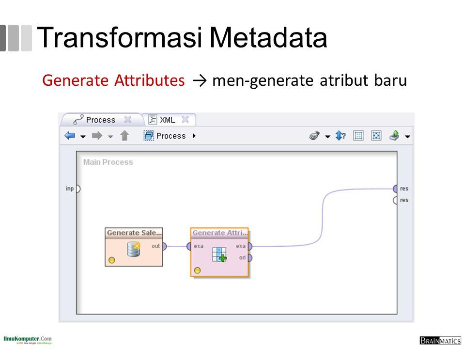 Transformasi Metadata