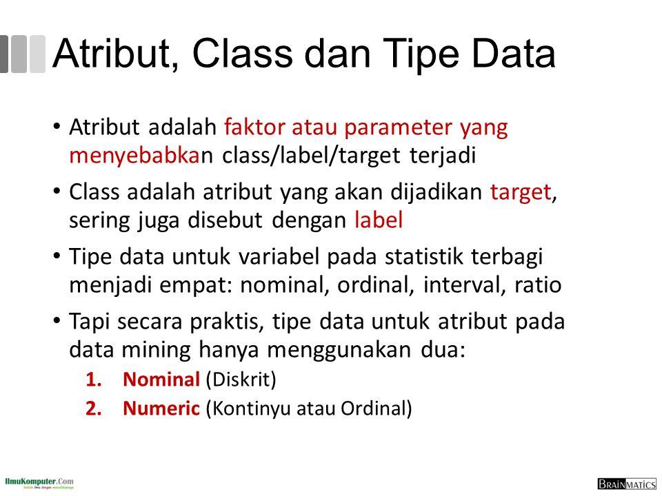 Atribut, Class dan Tipe Data