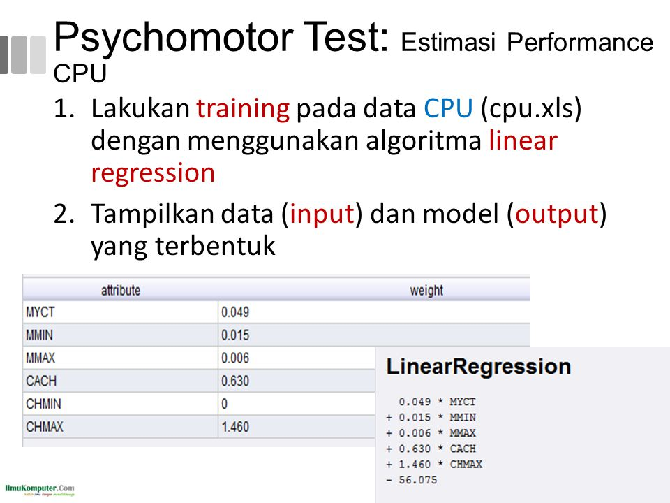 Psychomotor Test: Estimasi Performance CPU