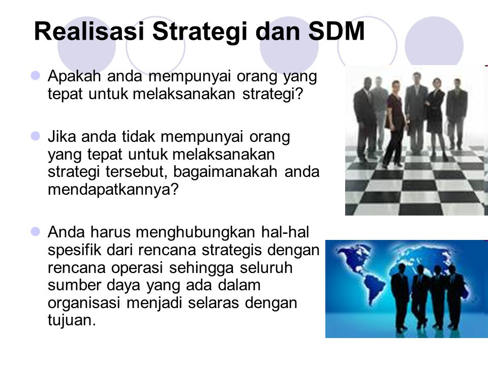 Realisasi Strategi dan SDM