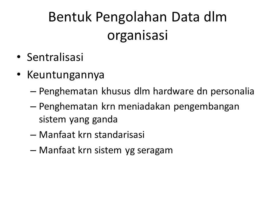 Bentuk Pengolahan Data dlm organisasi