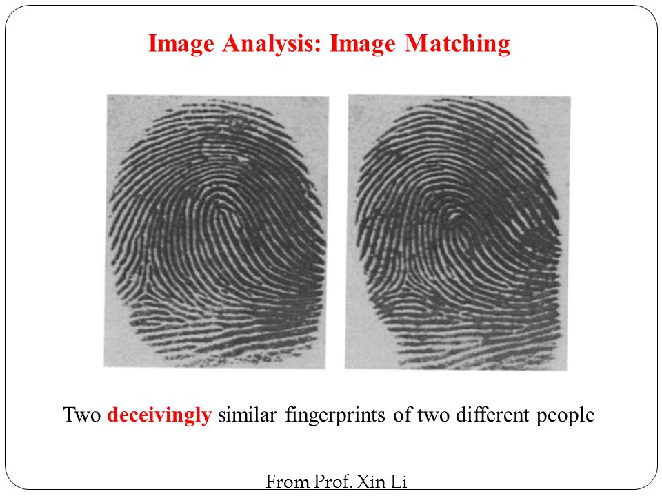 Two deceivingly similar fingerprints of two different people
