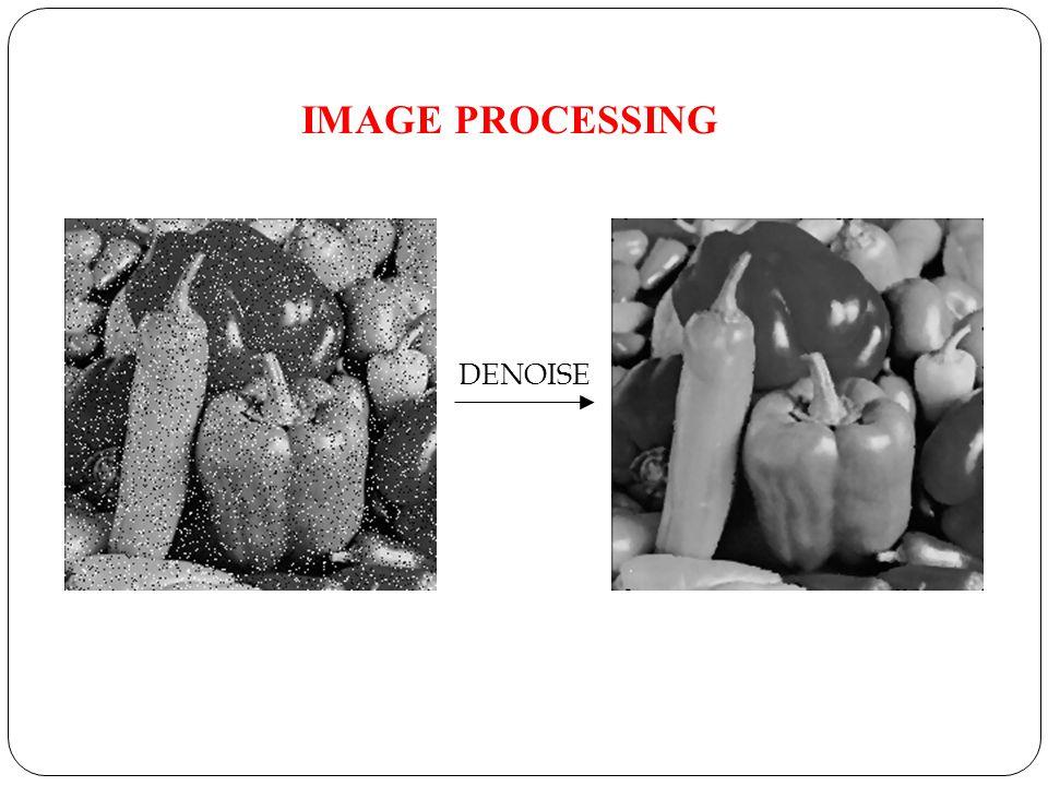 IMAGE PROCESSING DENOISE