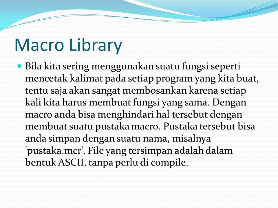 Macro Library