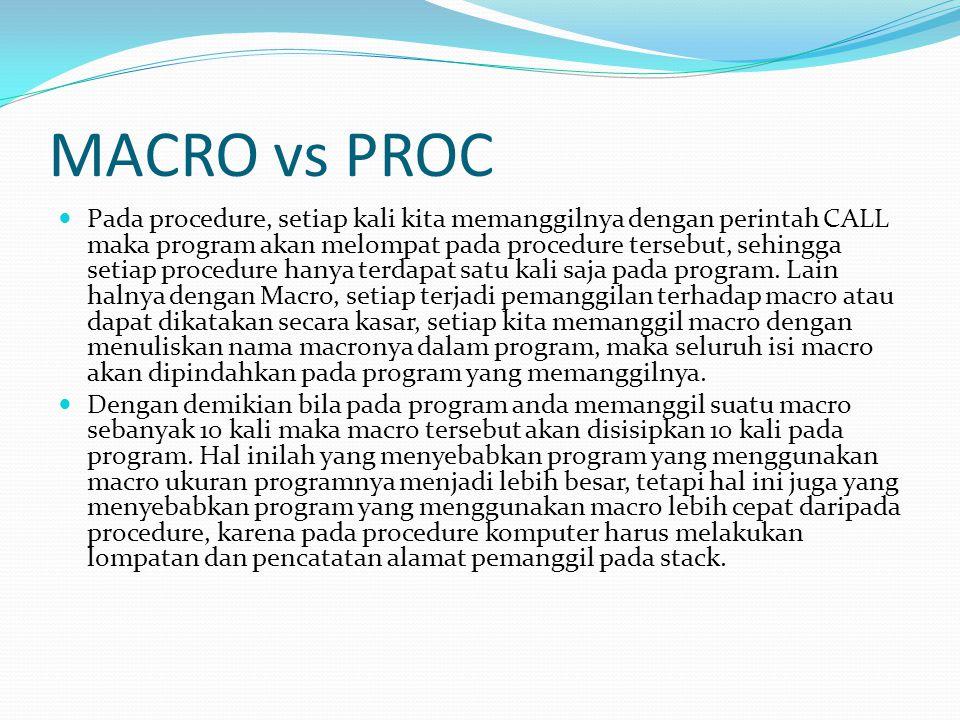 MACRO vs PROC