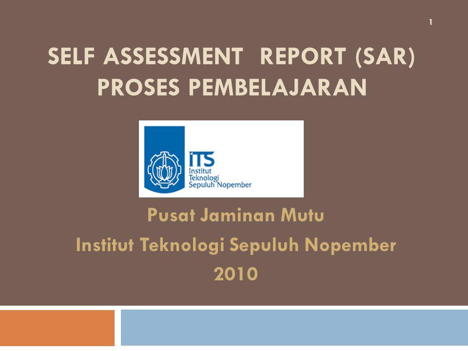 SELF ASSESSMENT REPORT (SAR) proses pembelajaran