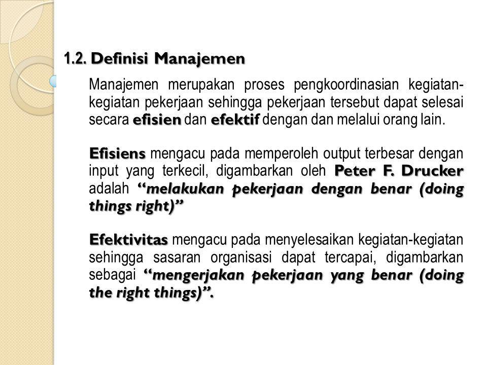 1.2. Definisi Manajemen