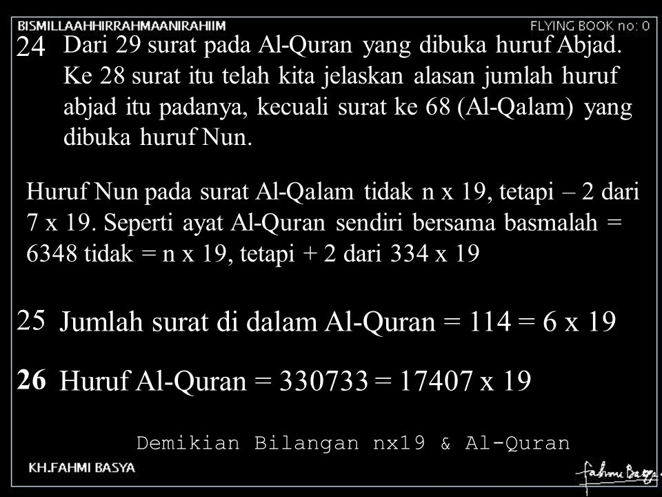 Demikian Bilangan nx19 & Al-Quran