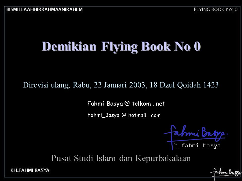 Demikian Flying Book No 0