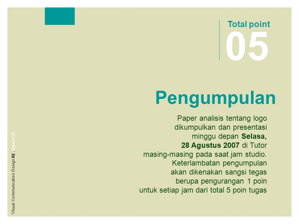 05 Pengumpulan Total point Paper analisis tentang logo
