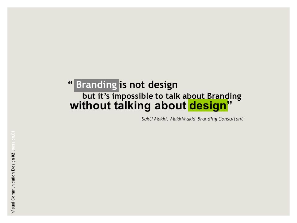 without talking about design
