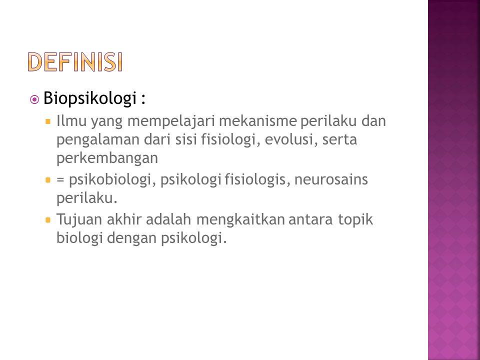 definisi Biopsikologi :