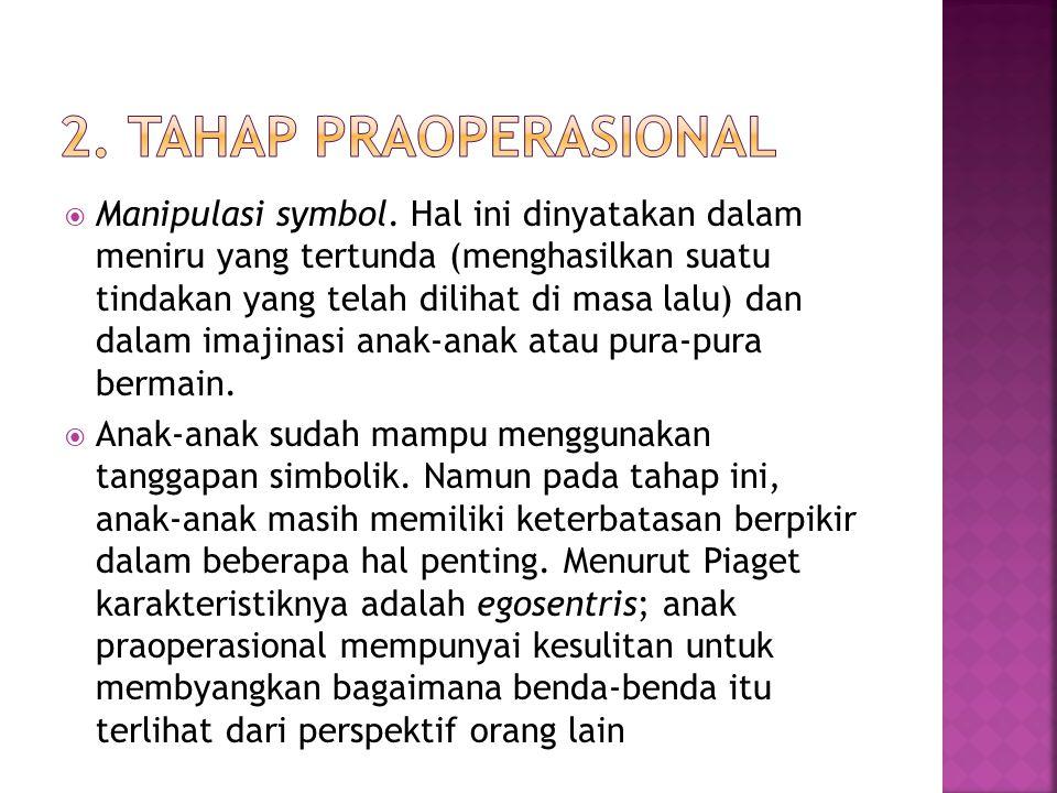 2. Tahap Praoperasional