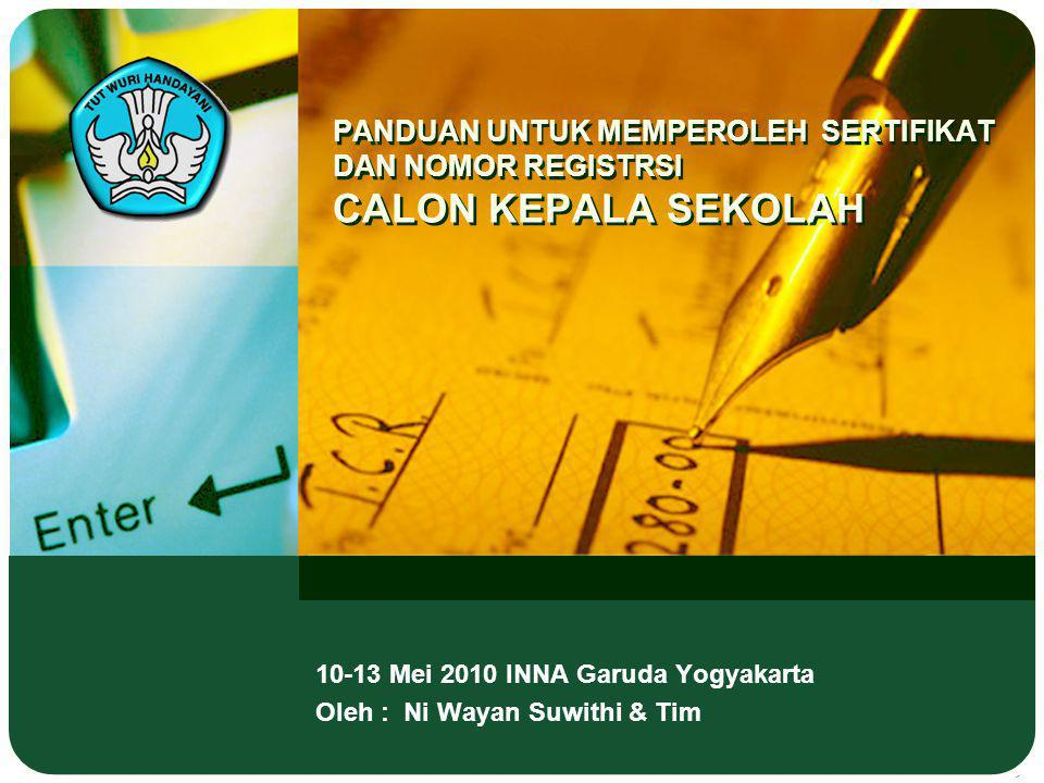10-13 Mei 2010 INNA Garuda Yogyakarta Oleh : Ni Wayan Suwithi & Tim