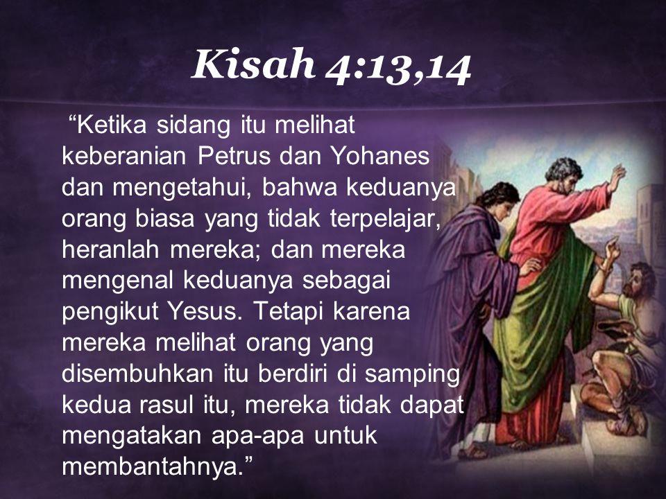 Kisah 4:13,14