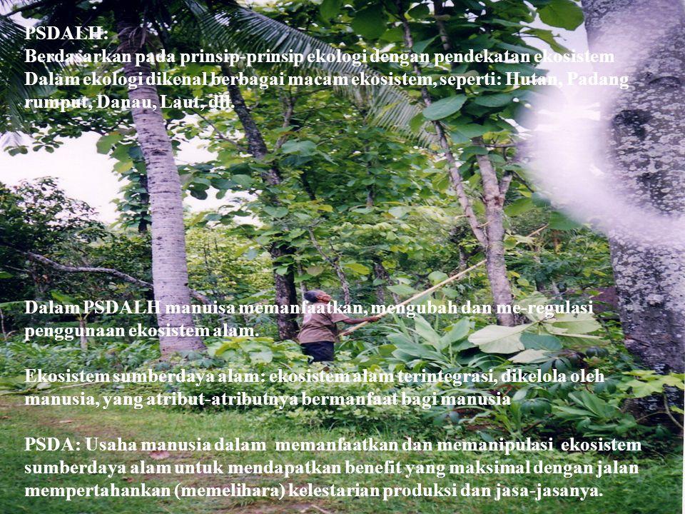PSDALH: Berdasarkan pada prinsip-prinsip ekologi dengan pendekatan ekosistem.