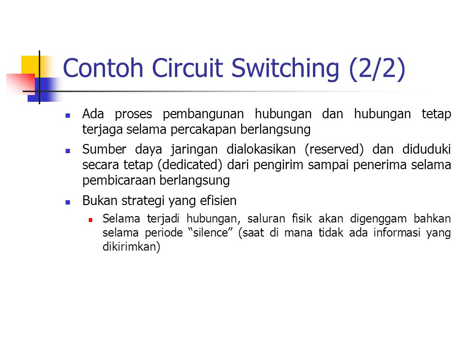 Contoh Circuit Switching (2/2)
