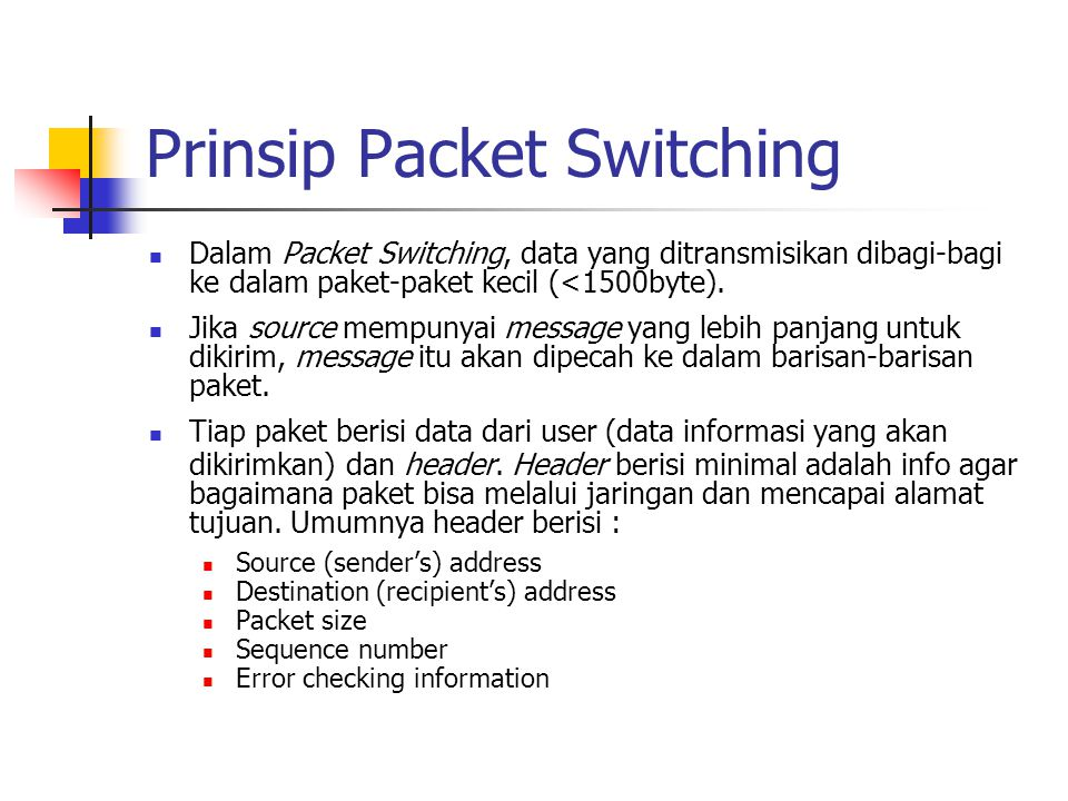 Prinsip Packet Switching